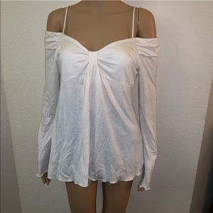 ❤️VINTAGE❤️MODA INTERNATIONAL WHITE BRA TOP SZ M